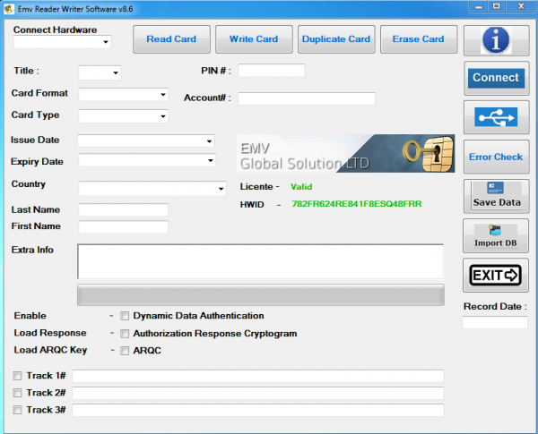 EMV Chip Writing Software